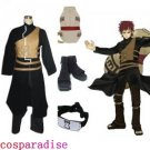 Naruto Shippuden Gaara Men's Cosplay Costume and Accessories Set