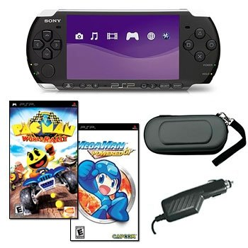 SONY PSP-3000 MEGA HOLIDAY BUNDLE WITH 2 GAMES AND MORE