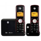 MOTOROLA DECT 6.0 CORDLESS PHONE WITH BLUETOOTH AND 2 HANDSETS