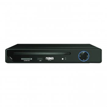NAXA HIGH RESOLUTION 2 CHANNEL PROGRESSIVE SCAN DVD PLAYER WITH USB & SD INPUTS