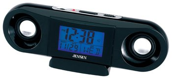 JENSEN SMPS-100 PORTABLE SPEAKER CLOCK WITH TIME/ALARM/DATE/DAY(Model: SMPS-100)