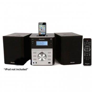 PIONEER MICRO CD/IPOD/IPHONE DOCK SHELF SYSTEM W/ FM TUNER & USB (Model: XEM21)
