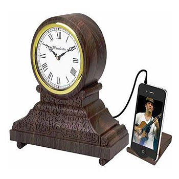 TIMELESS VINTAGE STYLE ALARM CLOCK WITH MP3/IPOD, DIGITAL RADIO, AND ALARM (Model: RC-500)