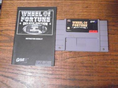 SNES Wheel of Fortune Deluxe