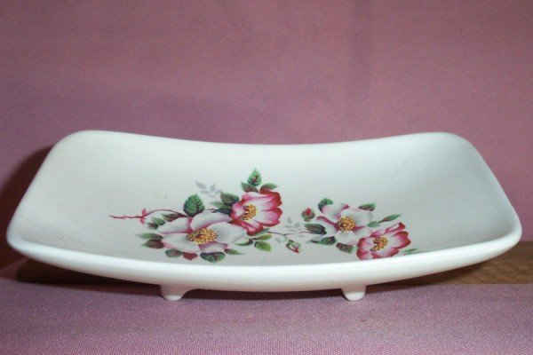 Vintage Eastgate Pottery PEDESTAL CANDY / KEY DISH, Withernsea