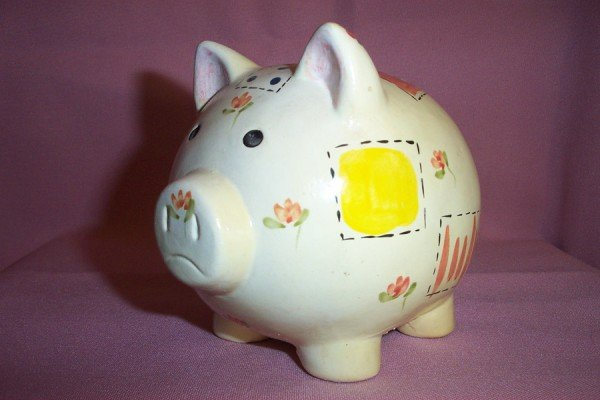 Vintage Handmade Small Ceramic PIGGY PIG BANK, Excellent Cond.