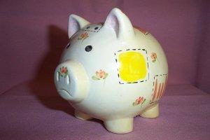 Vintage Handmade Small Ceramic PIGGY PIG BANK, Excellent Cond.