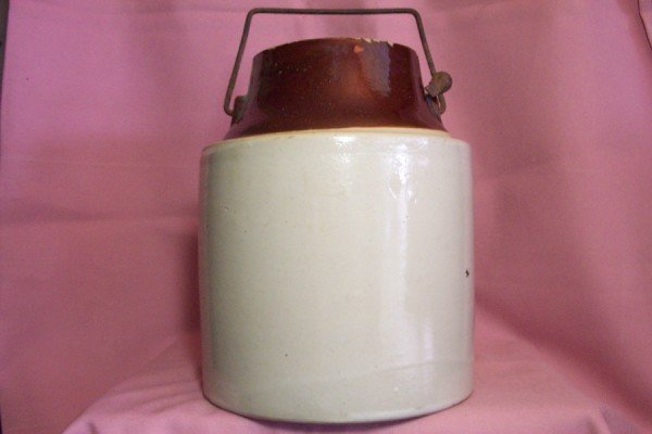 Antique Vintage STONEWARE CANNING CROCK, Moonshine, Pickle Jar