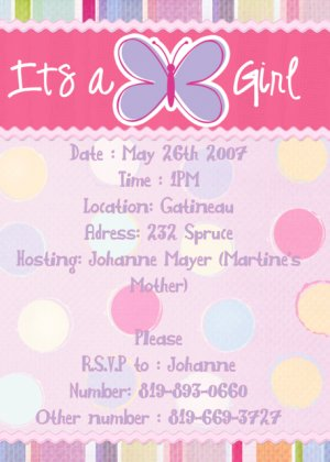 Baby Shower Invataions