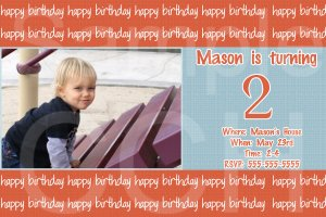 Personalized Birthday Party Invitations