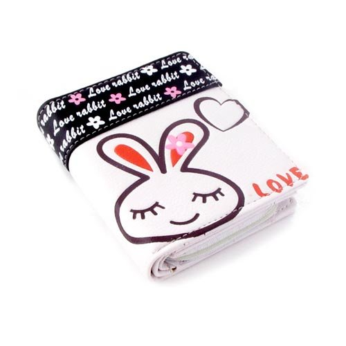 White Love Rabbit Wallet