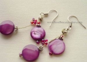 Charming Asian Style Purple Earrings