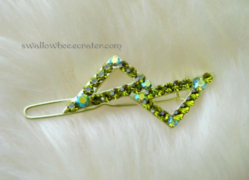 Stylish Green Triangle Hair Clip