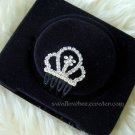 Sparkling White Crown Hair Comb