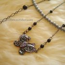 Multi-layer Purple butterfly Pearl Necklace