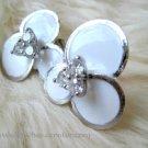 Elegant White Floweret Earrings