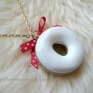 Sweet Frosted Donut Necklace