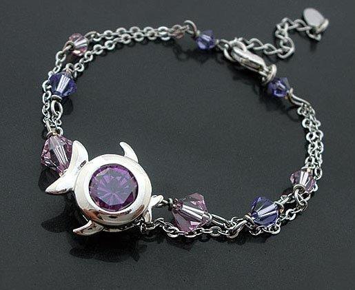 Violet Zircon Fish Bracelet