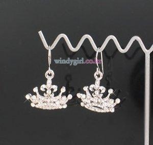 Sparkling Crown Earrings