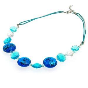 Handmade Summer Breeze Blue Necklace