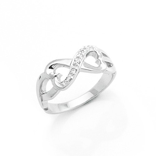 Sterling Silver Heart Shape Fashion Ring
