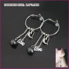 Stylish Love Pearl Earrings