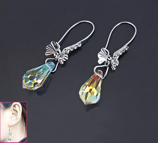 Enchanting Butterfly Swarovski Crystal Earrings
