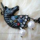 Stylish Black Unicorn Two-Layer Long Necklace