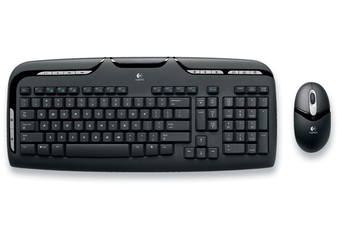 Logitech Cordless Desktop EX110 Keyboard and Optical Mouse Combo