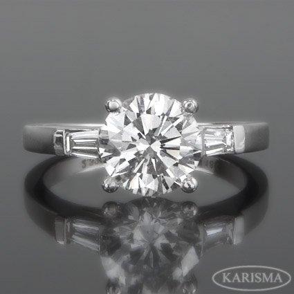 1.27ct Round Diamond Engagement Ring