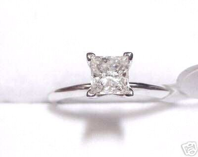1.01ct Princess Diamond Solitaire Engagement Ring