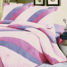 QTS-SJ605-23[Dulcea] 100% Cotton 3PC  Embroidered Patchwork Quilt Set (Full/Queen Size)