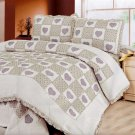 QTS-SJ808-23[Fiorenza's Love] 100% Cotton 3PC Floral  Patchwork Quilt Set (Full/Queen Size)