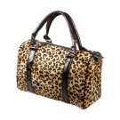 FB-WS171-LEOPARD[Dignity Leopard] Fashion Leopard Double Handle Leatherette Satchel Bag Handbag