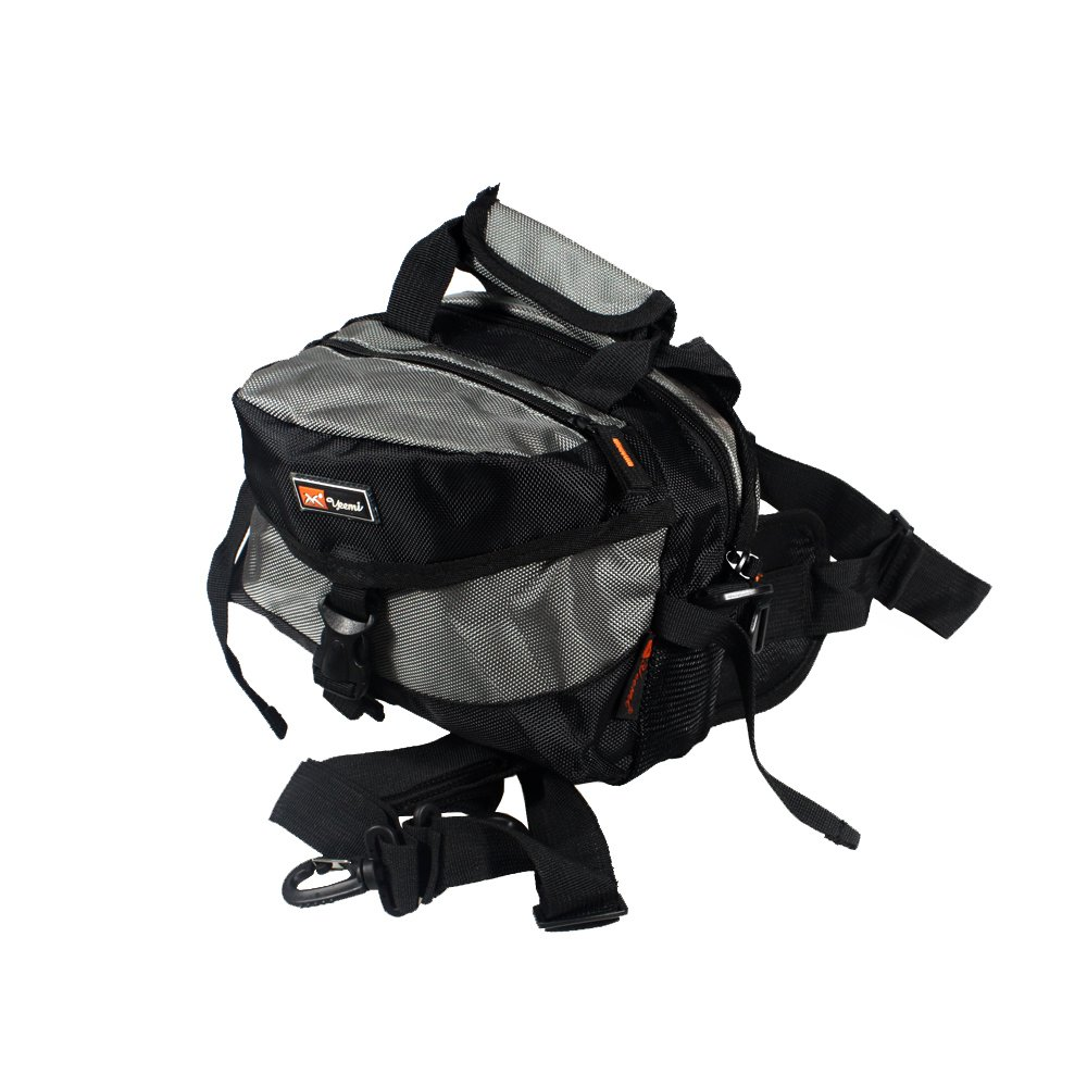 FP-ZP003-GRAY[Deluxe Gray] Multi-Purposes Fanny Waist Pack / Back Pack / Travel Lumbar Pack