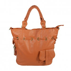 FB-XXA174-TAN[Romantic Trip] Tan Leatherette Satchel Bag Handbag Shoulder Bag Tote Bag w/Tassels