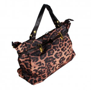 FB-XX533-COFFEE[Fashion Leopard Coffee] Double Handle Satchel Hobo Handbag w/Shoulder Strap