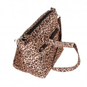 FB-HKD133-COFFEE[Cassual Life] Coffee Leopard Handbag Shoulder Bag Satchel Bag Purse