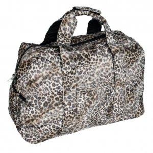 FB-ZY157-COFFEE[Sexy Wild] Leopard Double Handle Satchel Handbag Toe Bag w/Shoulder Strap