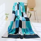 ONITIVA-BLK-025 [Plaids - Coral Sea] Soft Coral Fleece Patchwork Throw Blanket (59 by 78.7 inches)