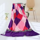 ONITIVA-BLK-031 [Plaids - Sweet Days] Soft Coral Fleece Patchwork Throw Blanket (59 by 78.7 inches)