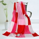 ONITIVA-BLK-037 [Cerelia] Soft Coral Fleece Patchwork Throw Blanket (59 by 78.7 inches)