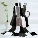 ONITIVA-BLK-040 [Modern Stylish] Soft Coral Fleece Patchwork Throw Blanket (59 by 78.7 inches)