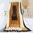 ONITIVA-BLK-055 [Pastorale] Soft Coral Fleece Patchwork Throw Blanket (59 by 78.7 inches)