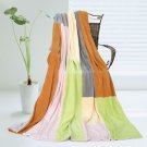 ONITIVA-BLK-063 [Paradise] Soft Coral Fleece Patchwork Throw Blanket (59 by 78.7 inches)