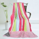 ONITIVA-BLK-068 [Pink Colour] Soft Coral Fleece Patchwork Throw Blanket (59 by 78.7 inches)