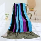 ONITIVA-BLK-069 [Pattaya Beach] Soft Coral Fleece Patchwork Throw Blanket (59 by 78.7 inches)