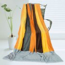 ONITIVA-BLK-070 [New Hope] Soft Coral Fleece Patchwork Throw Blanket (59 by 78.7 inches)
