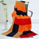 ONITIVA-BLK-073 [New Day] Soft Coral Fleece Patchwork Throw Blanket (59 by 78.7 inches)