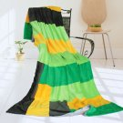 ONITIVA-BLK-076 [Lemon Tree] Soft Coral Fleece Patchwork Throw Blanket (59 by 78.7 inches)
